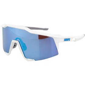100% Speedcraft Glasses Tall matte white/HD multilayer/hiper